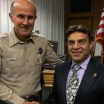 with L.A. County Sheriff Lee D. Baca